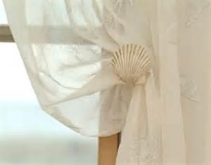 shell curtain tie backs seashell inspired window treatments completely coastal