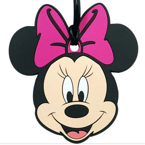 3d Cross Bumper Character Hello Pink your wdw store disney luggage bag tag minnie mouse