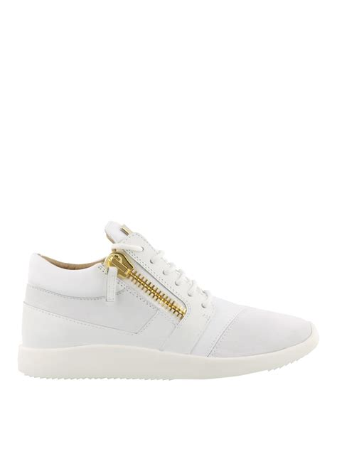 all white giuseppe sneakers runner white sneakers by giuseppe zanotti trainers ikrix