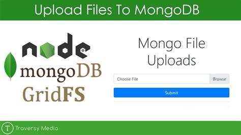 simple node js file upload mongodb