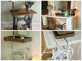 vintage decorations ideas with sewing machines my
