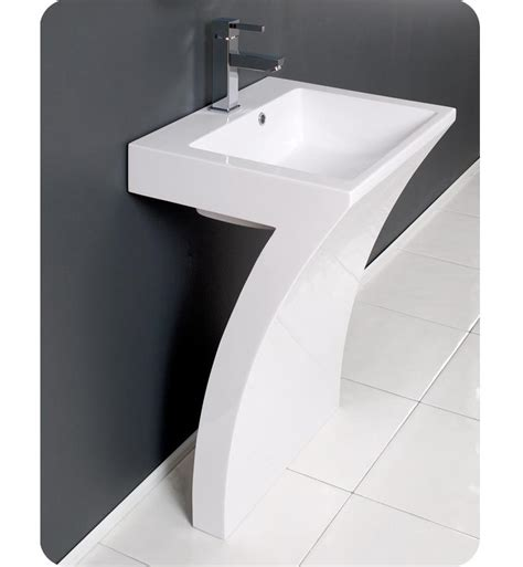 Modern Bathroom Vanity And Sink 22 5 Fresca Quadro Fvn5024wh White Pedestal Sink