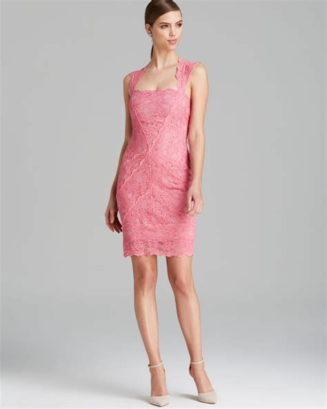 Nicoles Dress by Lyst Miller Dress Cap Sleeve Square Neck Lace In Pink