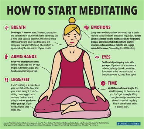 10 Tips On How To Start Working mindfulness meditation howto infographic business insider