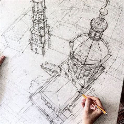 free architectural design these freehand architectural sketches show a university