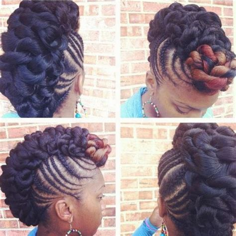 mohawk style with twist twist on the mohawk natural hair styles pinterest