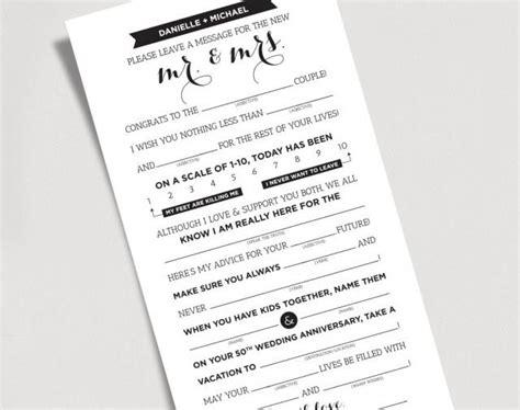 wedding mad libs template free wedding mad libs printable template kraft sign mr and