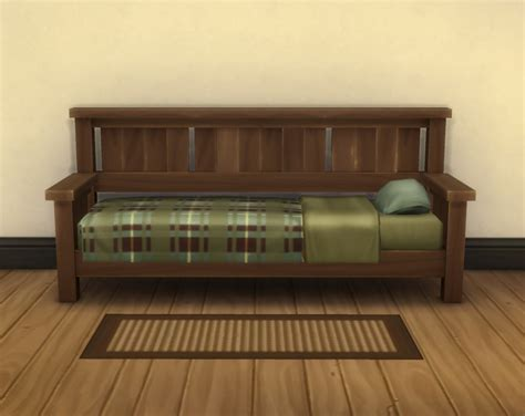 Mod The Sims The Missionary Day Bed Frame Day Bed Frame