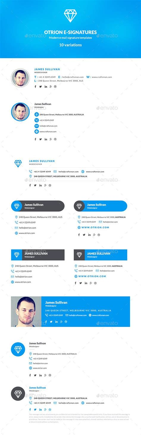 25 Best Ideas About Email Signature Templates On Pinterest Mail Signature Email Signatures Modern Email Signature Templates