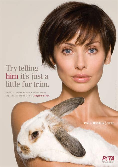 The Anti Fur Mob They Can P by No Trim For Natalie Imbruglia Peta S Peta