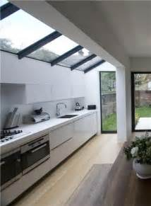 extension modern kitchen design skylight side glass box draws natural light into the interior this
