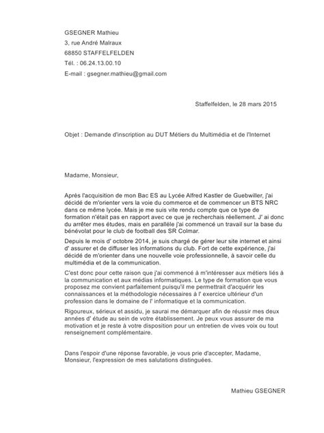 Lettre De Motivation Entreprise Alternance Dut Gea Lettre De Motivation Dut Mmi Pdf Par Mathieu Gsegner Fichier Pdf