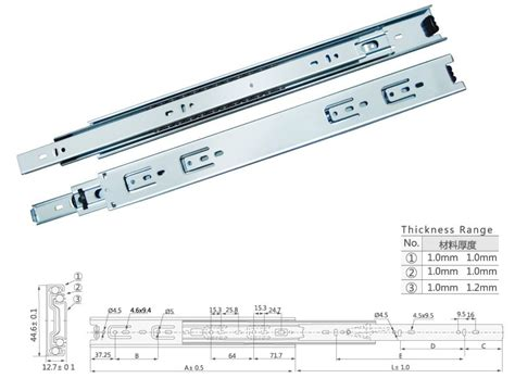 drawer slides keyboard zinc plated veitop 45mm color zinc plated soft close drawer slides
