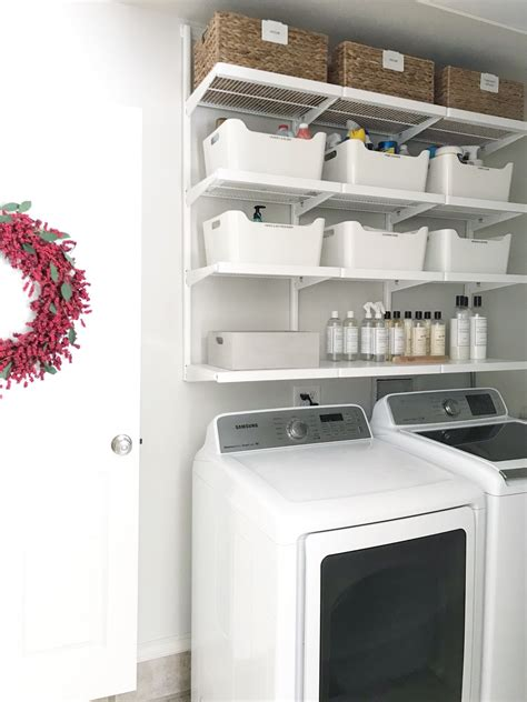 shelving for room simple diy updated shelving for a small laundry room simply organized