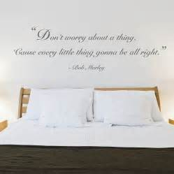 Bedroom Wall Stickers teenage bedroom with quotes wall stickers and white pillows and bed