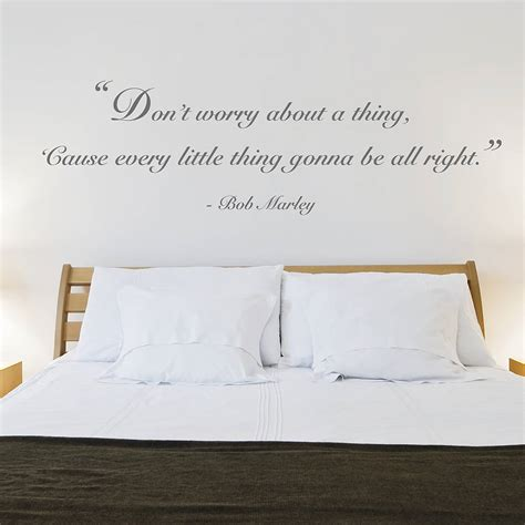 bedroom quotes don t worry quote wall sticker by oakdene designs