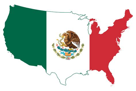 map united states and mexico file flag map of the united states mexico png