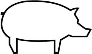 Pig outline coloring page free printable coloring pages