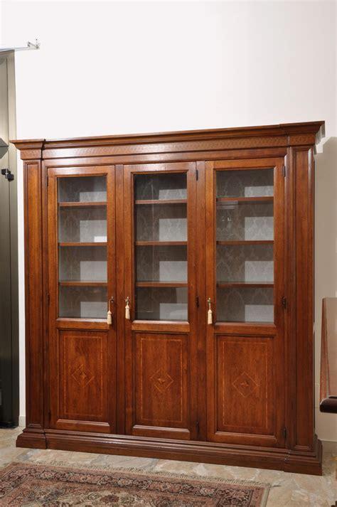 grandi librerie libreria in legno di noce massello di grandi dimensioni