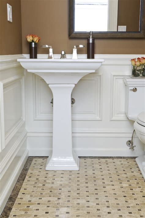 Wainscoting Ideas For Bathrooms Inspired Kohler Memoirs In Bathroom Traditional With Wainscoting Bathroom Next To Picture Frame