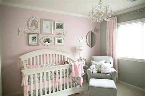 soft and gray and pink nursery project nursery