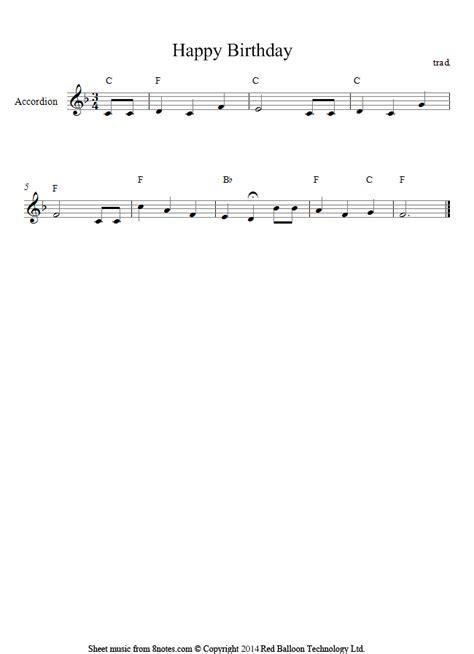 amazon com happy birthday to you accordion song version happy birthday to you sheet music for accordion 8notes com