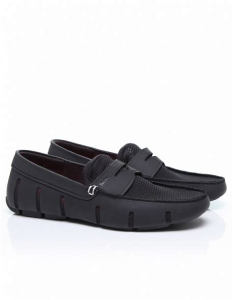 swims black loafers swims loafer in black for lyst