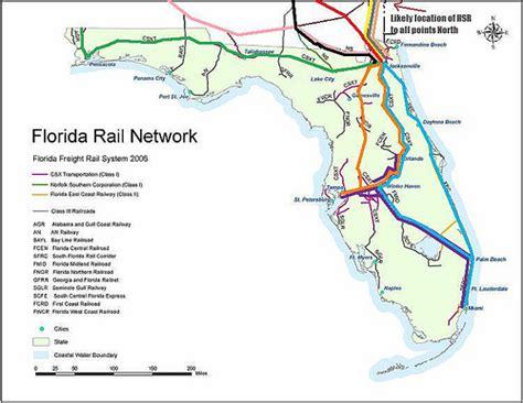 railroad map of florida florida rail routes flickr photo