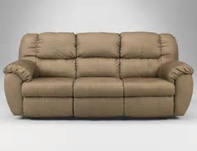 ashley furniture 845 reclining micro fiber sofa