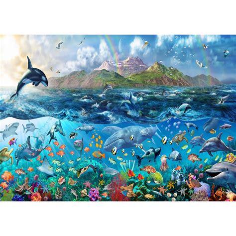 underwater wall mural rainbow tropical underwater sea wallpaper mural