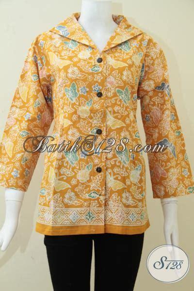 Kemeja Kuning Kunyit trend batik wanita warna kuning kunyit batik cantik asli