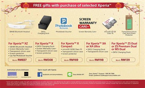sony new year promotion malaysia sony malaysia offers free gifts with selected xperia