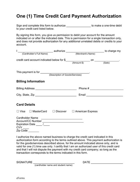 credit card authorization forms authorization of payment form choice image cv