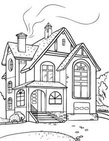 coloring pictures of a house free house coloring page