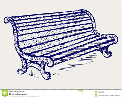 Dessin De Banc by Banc En Bois Illustration De Vecteur Illustration Du