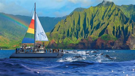 napali coast boat tours south shore blue dolphin kauai niihau na pali coast boat tours