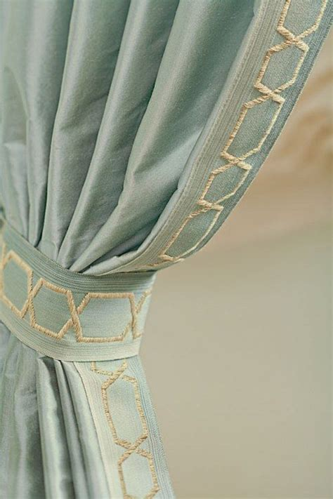 fabric trim for curtains chain links the guest and silk on pinterest