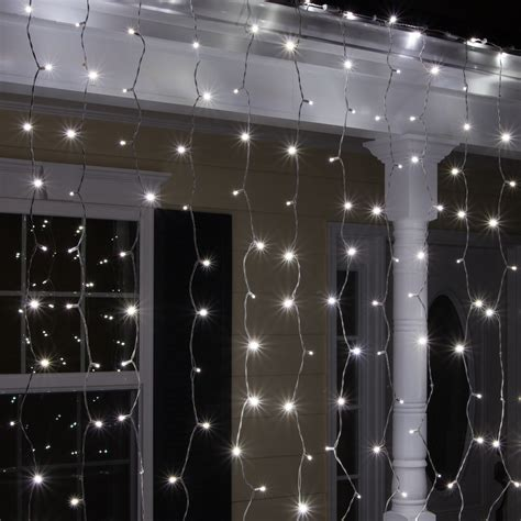 icicle curtain lights led christmas lights 150 5mm cool white curtain led