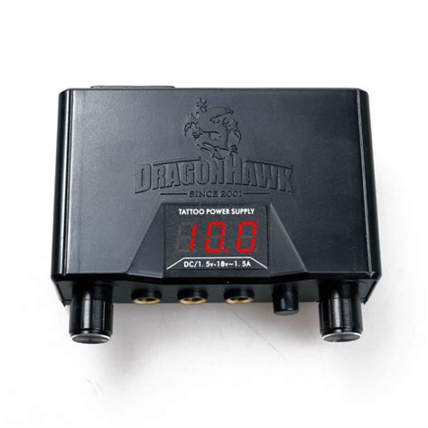 tattoo machine power supply dragonhawk lcd dual machine gun power supply in