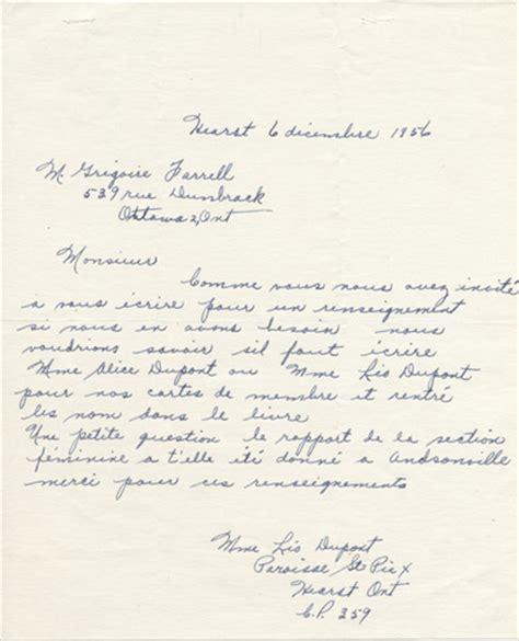 Lettre De Remerciement Organisation Fete Lettre De Remerciement De Raoul Guibord