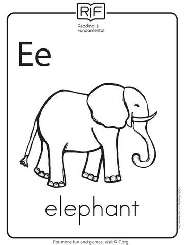 letter e coloring pages momjunction free alphabet coloring pages