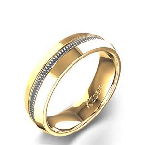 wedding ring mens unique high channel s wedding ring in 14k two tone yellow gold