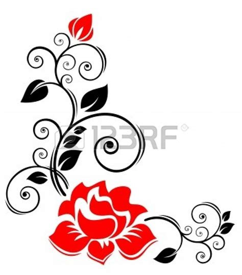best flower clipart black and white 13576 clipartion gaeroladid white border clip images