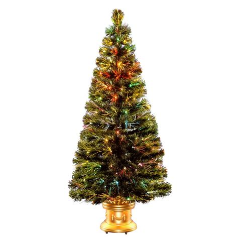 home depot fiber optic christmas tree national tree company 5 ft fiber optic radiance fireworks artificial tree szrx7 100l