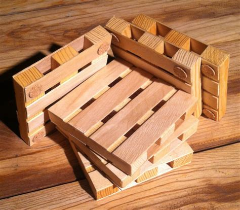 Handmade Wooden Coasters - handmade wooden pallet coasters set of 6