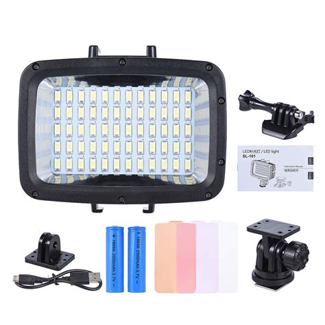 led beleuchtung set andoer 12w 3 mode 5500k fill in led light l diving 40m