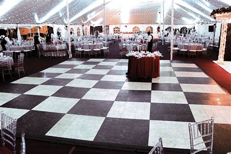 Luxury White Marble Dance Floor   Elegant Portable Flooring