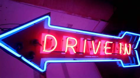 sign inn in awesome neon drive in sign for sale on ebay now