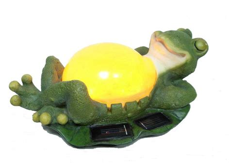 China Polyresin Frog Solar Light China Solar Light Solar Frog Light