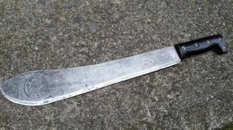 forged machete vintage forged bolo machete blade made japan survival